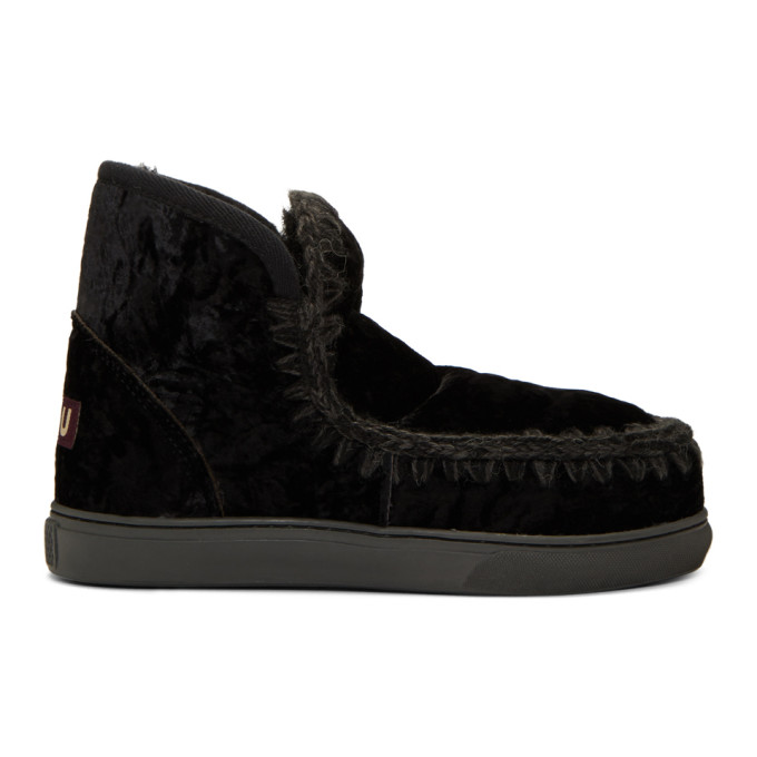 Mou Black Mini Eskimo Sneaker Boots