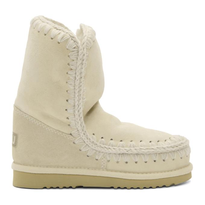 Mou White & Grey Eskimo 24 Boots