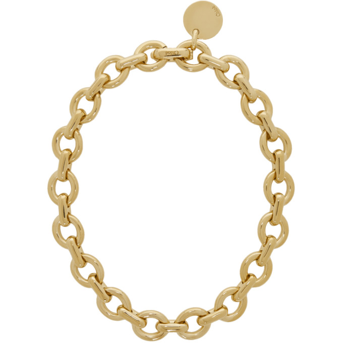 Chloé Gold Chain-Link Necklace