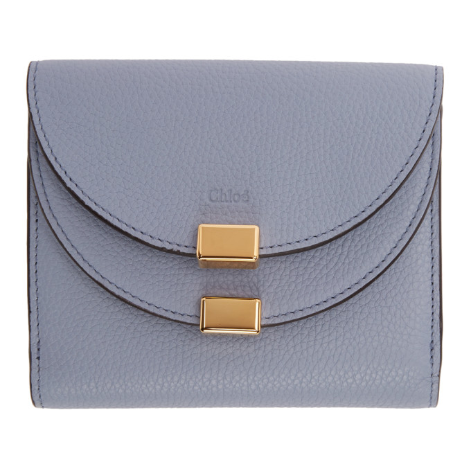 Chlo� Blue Square Georgia Flap Wallet