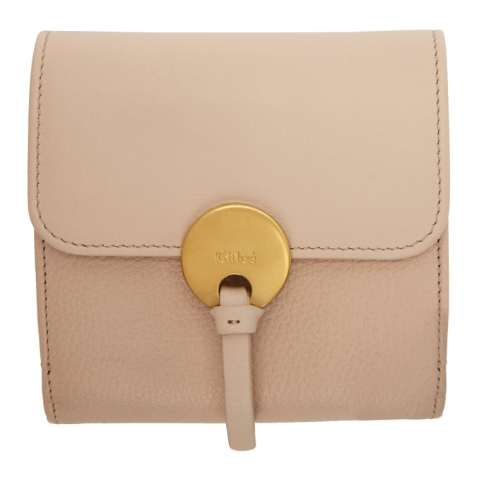 CHLOE PINK INDY SQUARE WALLET