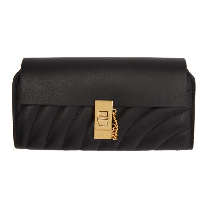 Chloé Black Long Drew Wallet