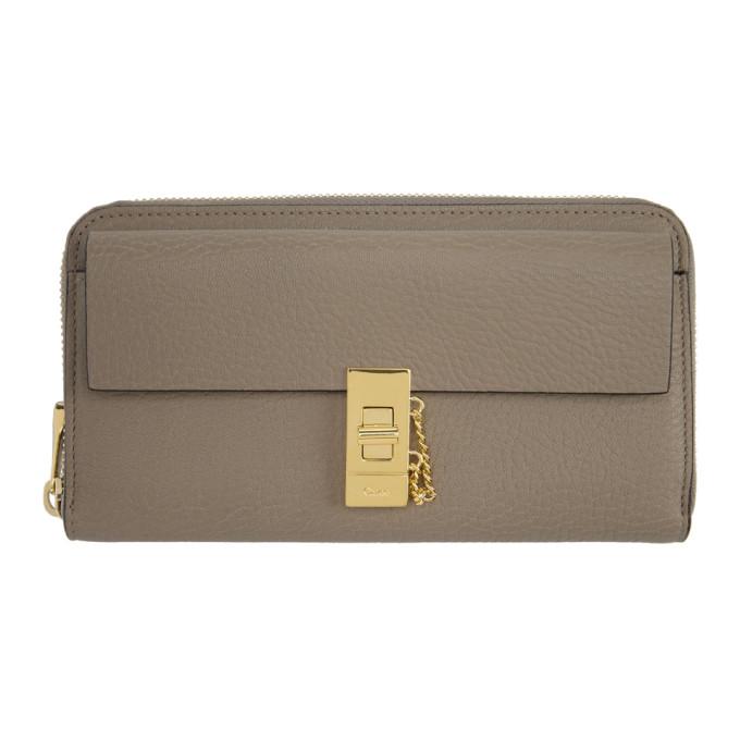 Chlo� Grey Long Drew Flap Wallet