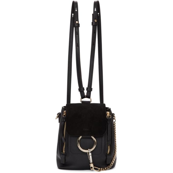 Chloe Black Mini Faye Backpack