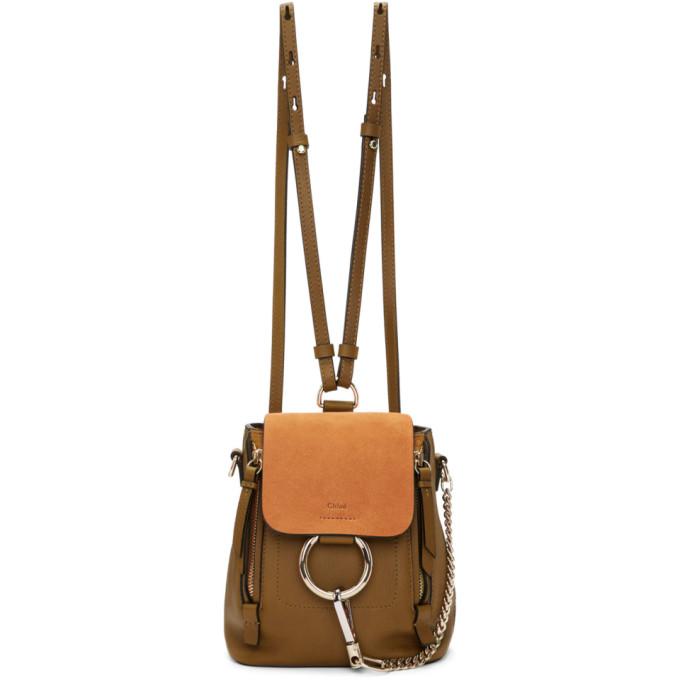 Chloe Tan Mini Faye Backpack
