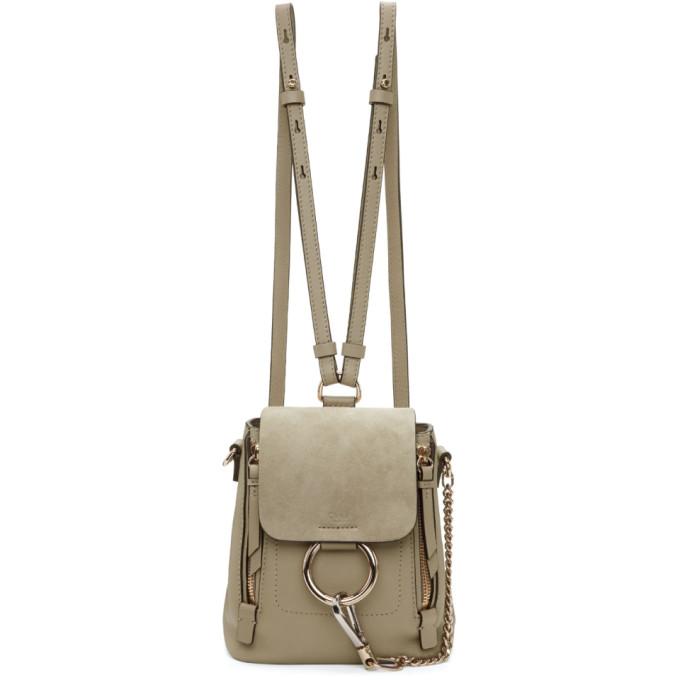 Chloe Grey Mini Faye Backpack