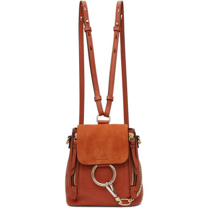 Chloe Red Mini Faye Backpack