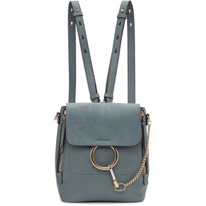 Chloe Blue Small Faye Backpack