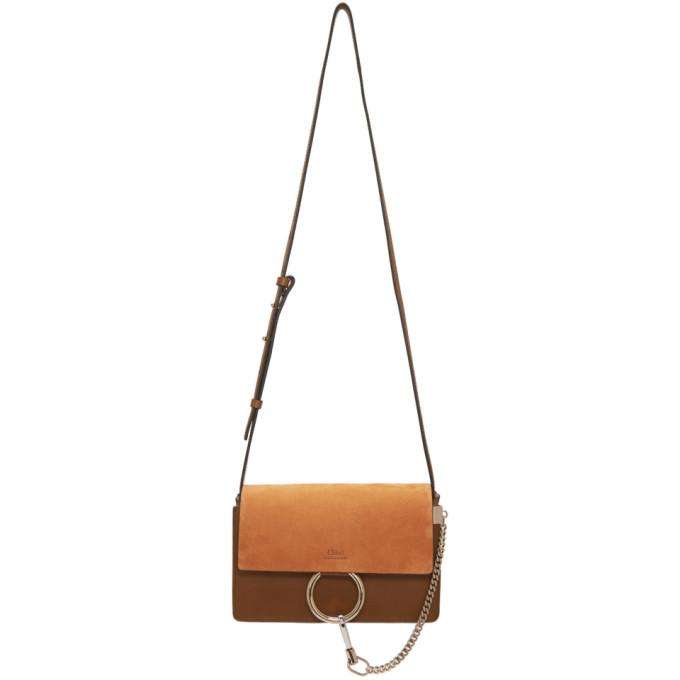 Chloe Brown Small Faye Bag