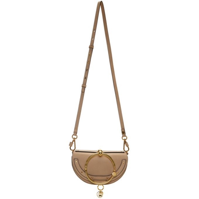 Image of Chloé Beige Nile Minaudière Bag