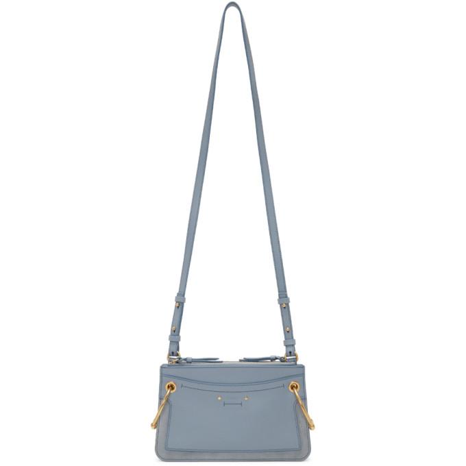 Chlo� Blue Mini Roy Double Zip Bag