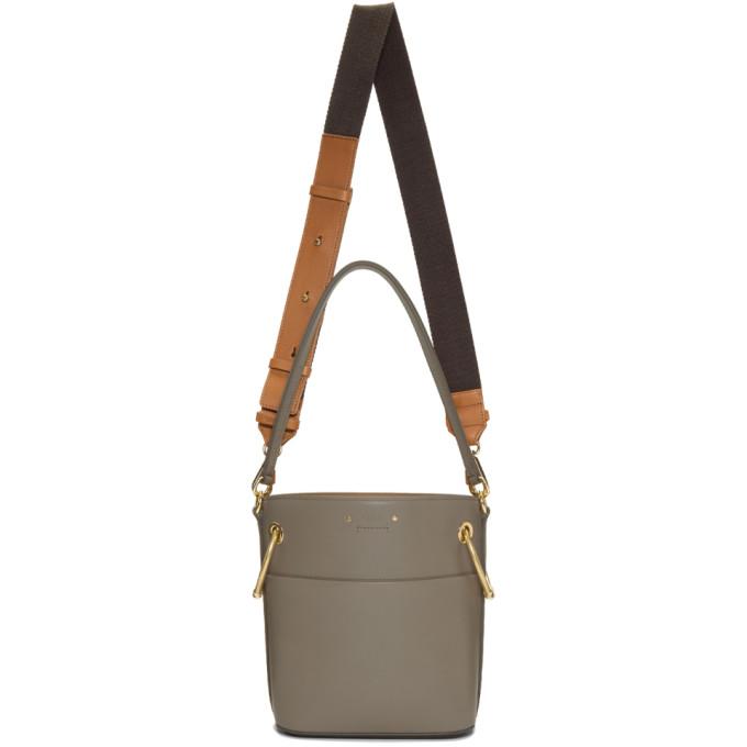 Chloe Grey Mini Roy Bucket Bag