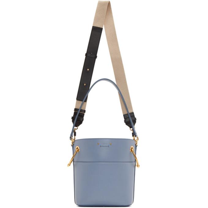 Chlo� Blue Small Roy Bucket Bag