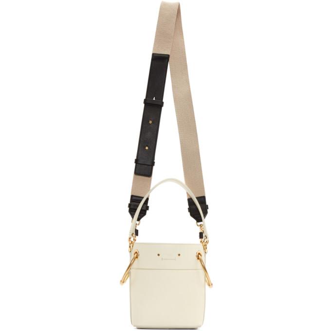 Chloe Off-White Mini Roy Bucket Bag