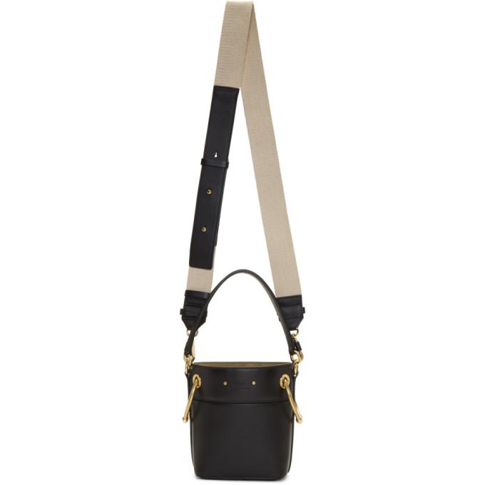 Chloe Black Mini Roy Bucket Bag