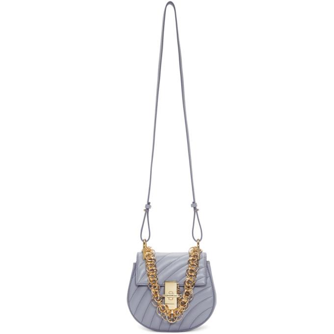 Chloe Blue Mini Drew Bijou Bag