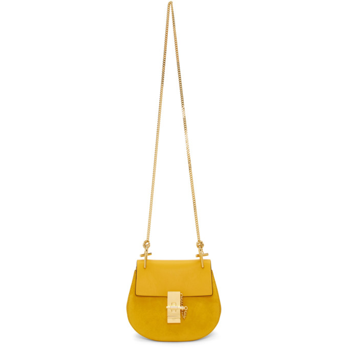 Chloe Yellow Mini Drew Bag