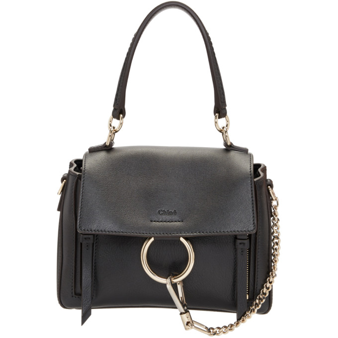 Chloe Black Mini Faye Day Bag