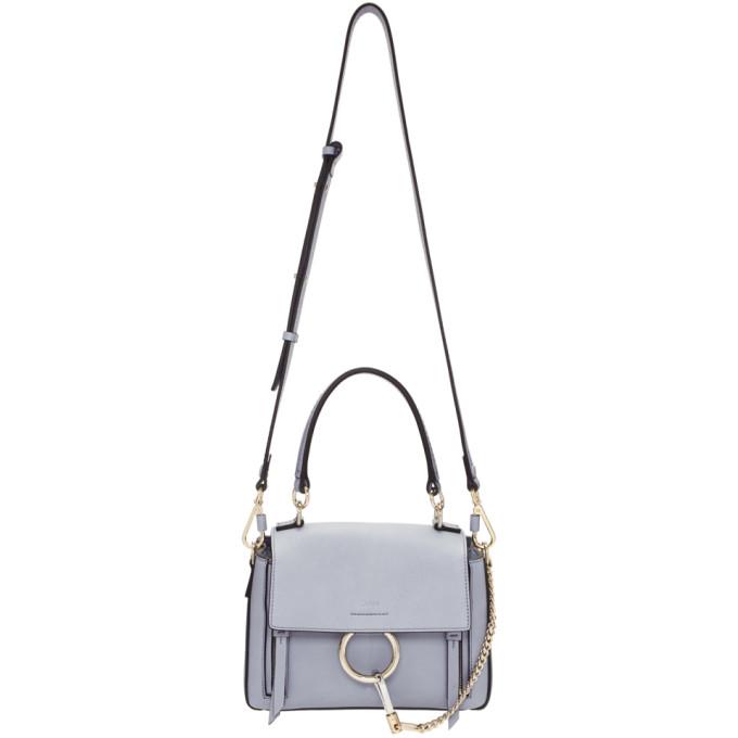 Chloe Blue Mini Faye Day Bag