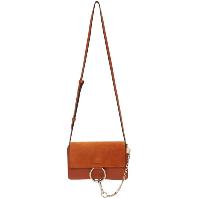 Chloe Red Small Faye Bag