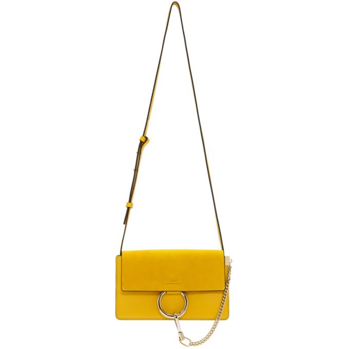 Chloe Yellow Small Faye Bag