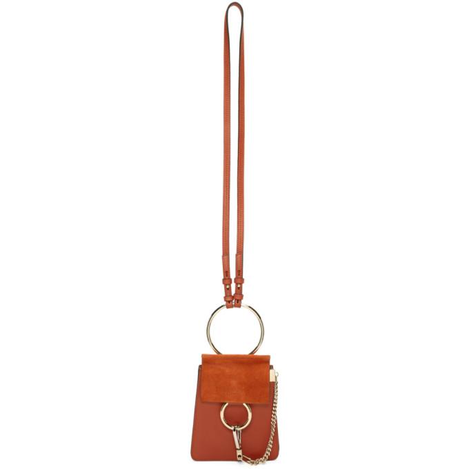 Chloe Red Mini Faye Bracelet Bag