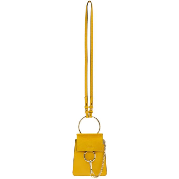 Chloe Yellow Mini Faye Bracelet Bag