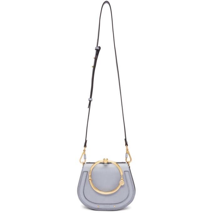 Chloe Blue Small Nile Bracelet Bag