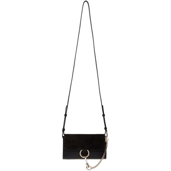 Chloe Black Mini Faye Wallet Bag