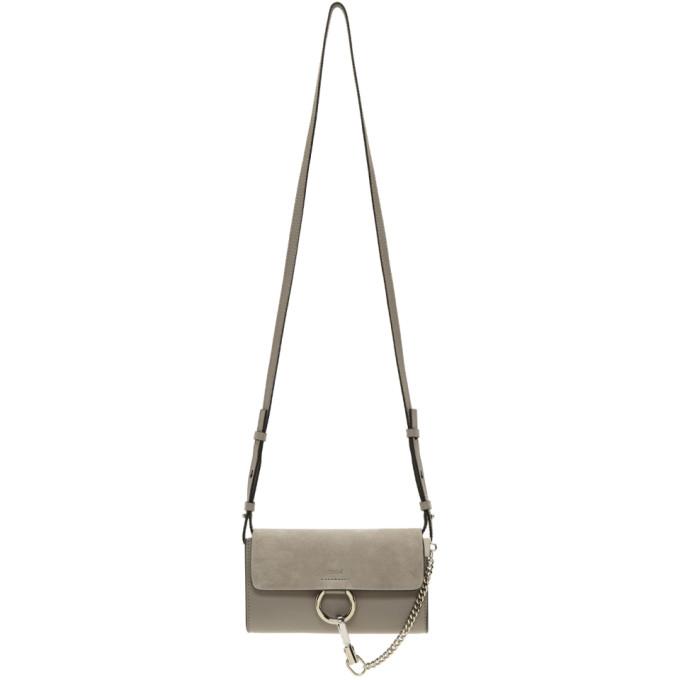 Chloe Grey Mini Faye Wallet Bag