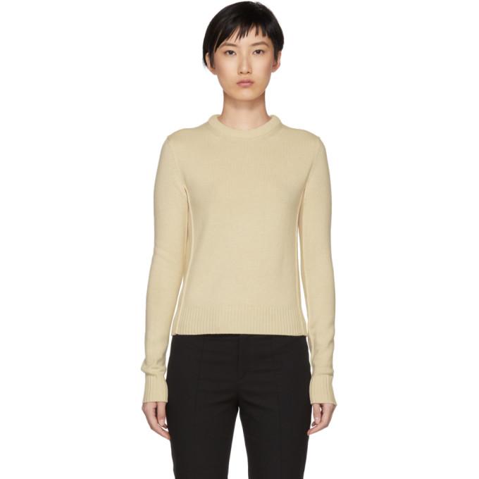 Image of Chloé Beige Cashmere Crewneck Sweater