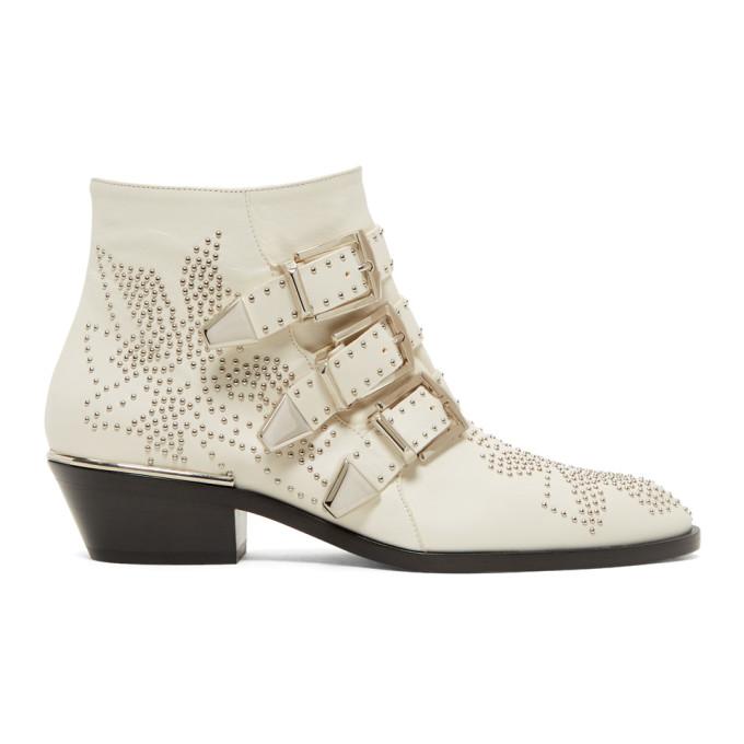 Chloe White & Silver Susanna Boots