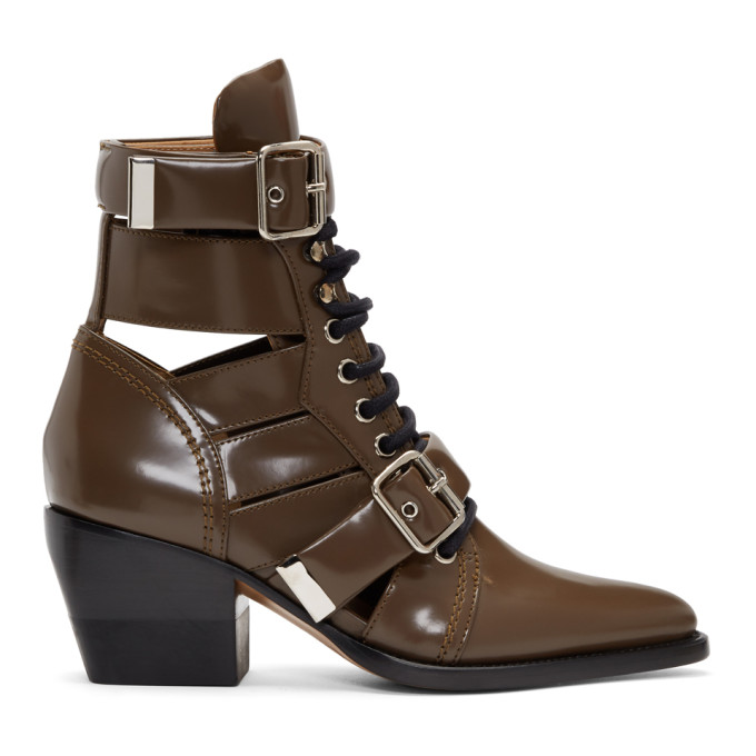 Chloe Brown Rylee Strap Boots