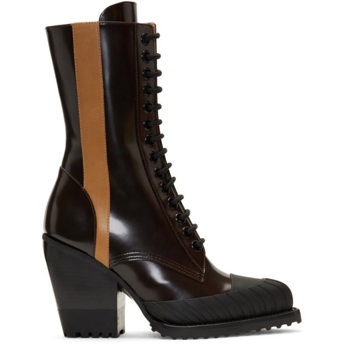 Chloe Burgundy Rylee Tall Hiking Boots