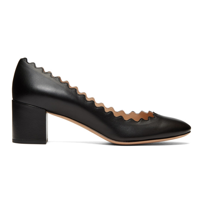 Chloé Black Nappa Lauren Heels