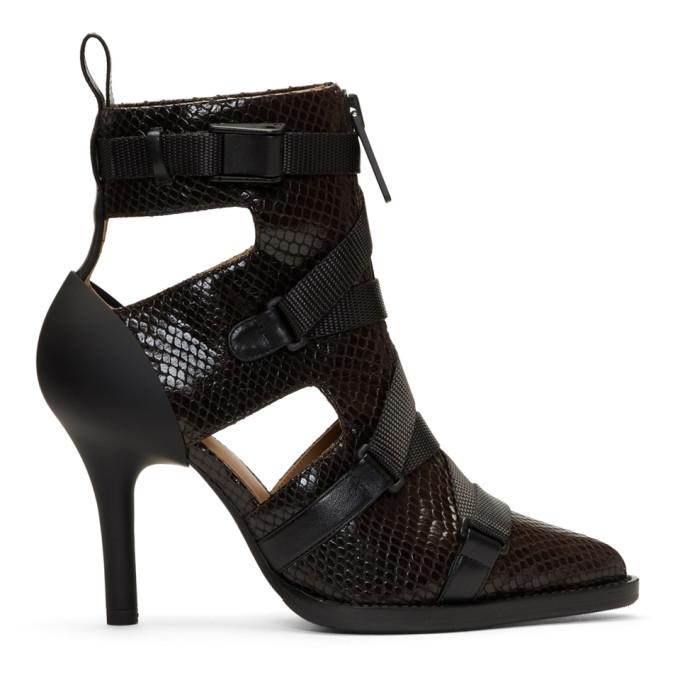 Chloe Burgundy Tracy Croc Strap Heels