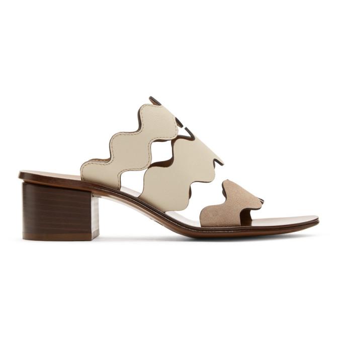Chloe Brown Wavy Three Strap Sandals