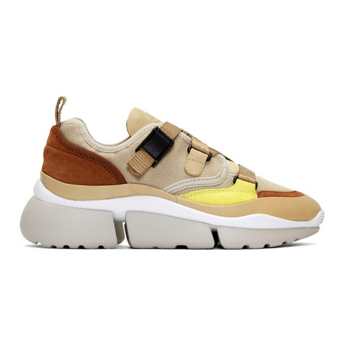 Chloe Pink Suede & Mesh Sneakers