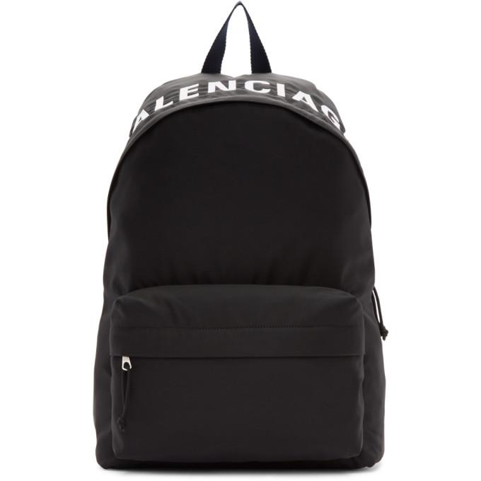 Balenciaga Black & Navy Wheel Backpack