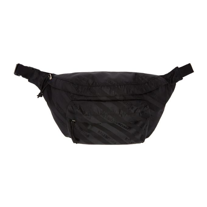 Balenciaga Black Jacquard Wheel Belt Pack
