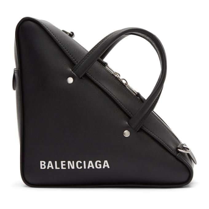 Balenciaga Black Small Triangle Bag