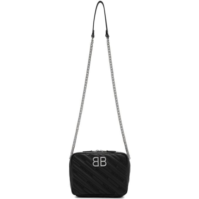 Balenciaga Black XS BB Reporter Bag