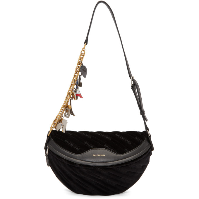 Balenciaga Black Small Souvenir Charm Bag
