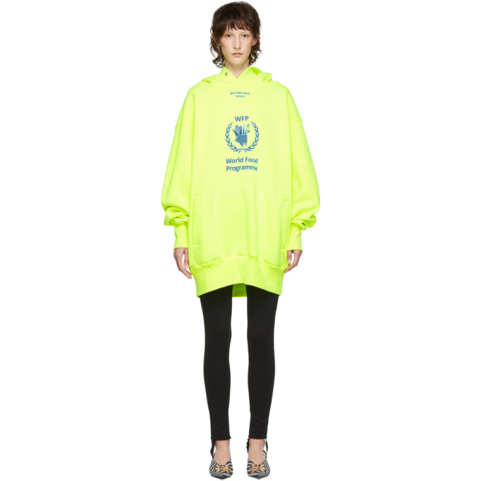 Balenciaga Yellow World Food Programme Hoodie