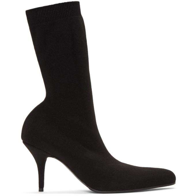 Balenciaga Black Elegant Sock Boots, 1000 Black