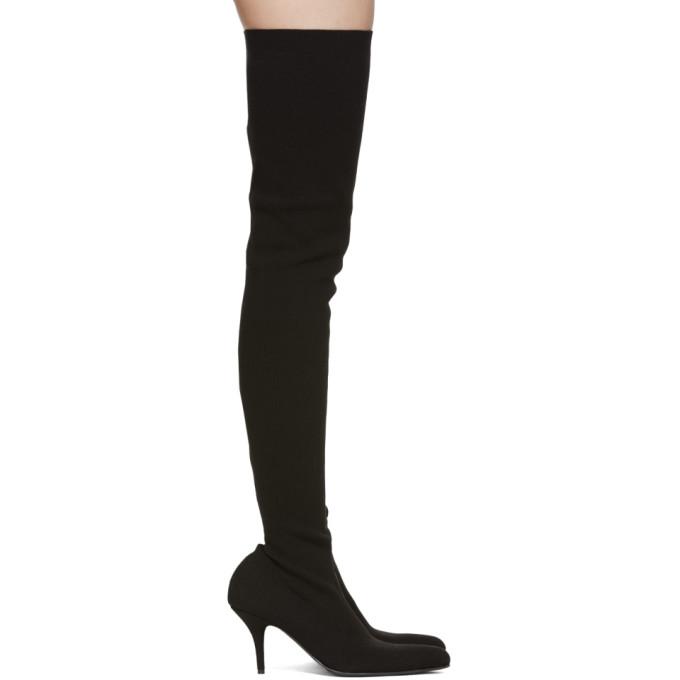 Balenciaga Black Over-The-Knee Sock Boots