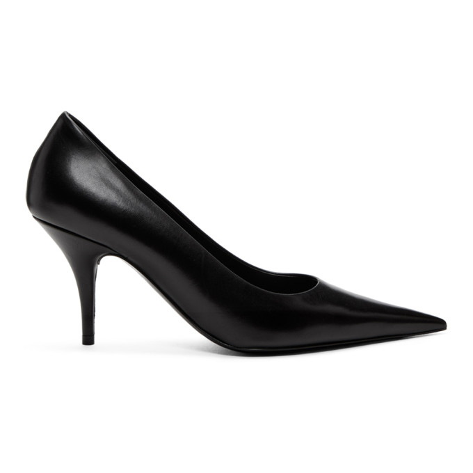 Balenciaga Black Leather Pointed Heels