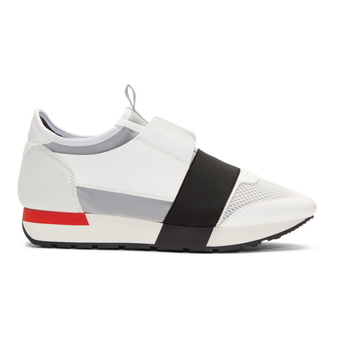 Balenciaga White Race Sneakers
