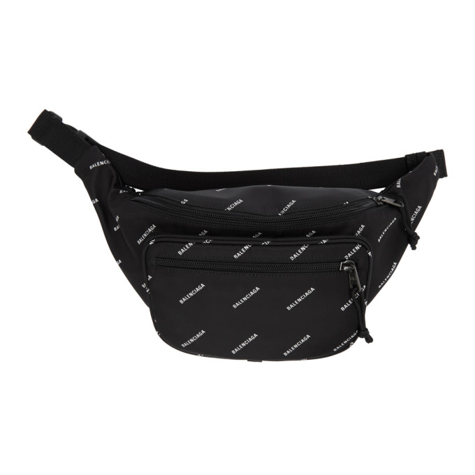 c74275bceb Balenciaga Black Logo Explorer Belt Bag