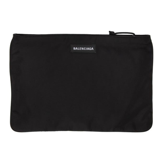 Balenciaga Black Explorer Zip Pouch